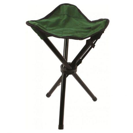 stool-steel-tripod-green-folding-seat-compact-lightweight