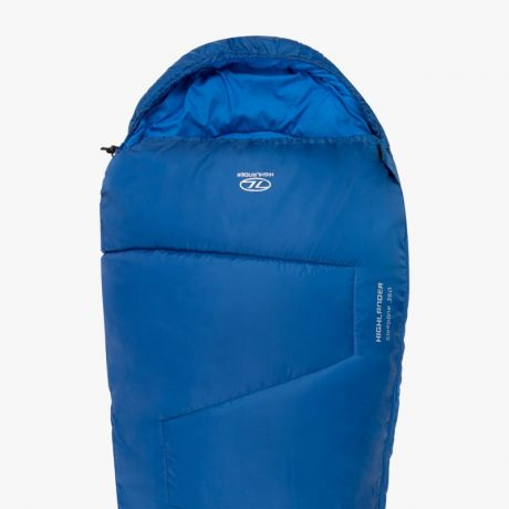 HIGHLANDER-SLEEPLINE-350-MUMMY-SLEEPING-BAG-BLUE