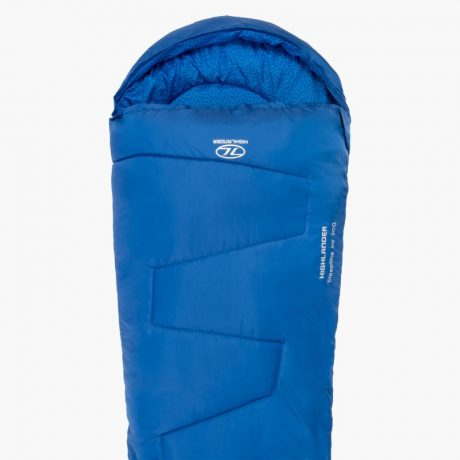 HIGHLANDER-SLEEPLINE-JNR-MUMMY-SLEEPING-BAG-BLUE-1